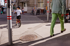 Green Giant (Michael Goldrei (microsketch)) Tags: 2018 spring street austria walking darkness bike jacket small photos apr photographer st crossing photography fuji height series tall photo shadow trousers giant österreich shade large european corner shadows austrian xseries big fujifilm light walk boy man age fujilovers 18 x100t difference vienna x green europe wien april