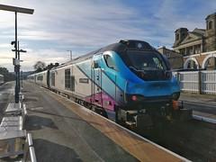 Resting President (JohnGreyTurner) Tags: br rail uk railway train transport tpe transpennine scarborough north yorkshire diesel nova 68 class68 vossloh stadler