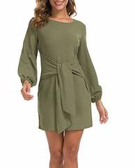 Lionstill Women's Elegant Long Sleeve Dress Casual Tie Waist Sweater Dresses (shop8447) Tags: casual dress dresses elegant lionstill long sleeve sweater tie waist womens