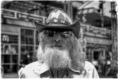 COUNTRY STYLE (NorbertPeter) Tags: man street people spontaneous portrait outdoor face urban city fujifilm xt2 streetphotography streetportrait monochrome poverty homeless beard hat blackandwhite bw cologne köln germany