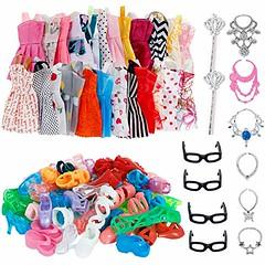 32 PCS Doll Accessories, 10x Mix Cute Dresses, 10x Shoes, 4x Glasses, 6x Necklaces, 2x Fairy Sticks Dress Clothes For Barbie Doll (shop8447) Tags: 10x 2x 4x 6x accessories barbie clothes cute doll dress dresses fairy for glasses mix necklaces pcs shoes handbags wallets sunglasses sticks