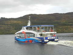 """Spirit of Loch Ness"" leaving Fort Augustus, Oct 2019 (allanmaciver) Tags: loch ness spirit vessel cruise water colours smart sleek people caledonian canal wake allanmaciver"