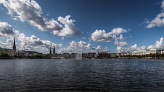 Amburgo 2019 (auredeso) Tags: binnenalster amburgo hamburg germani germany lago lake nuvole nimbus hdr tonemapping nikon d750 tamron nikond750 tamron1530