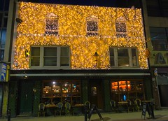 Glowing pub in Manchester (Tony Worrall) Tags: manchester greatermanchester night evening dark shine lit light fun great led glow pub festive golden bar inn boozer house urban building architecture welovethenorth nw northwest north update place location uk england visit area attraction open stream tour country item greatbritain britain english british gb capture buy stock sell sale outside outdoors caught photo shoot shot picture captured ilobsterit instragram thefreemount