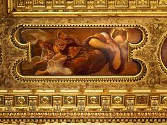 Sala dell'Albergo ceiling (█ Slices of Light █▀ ▀ ▀) Tags: tintoretto 丁托列托 jacopo comin ceiling sala dell'albergo oil painting canvas late renaissance venetian style christianity scuola grande di san rocco confraternity religious art venice venezia veneto 威尼斯 urban tourist 教堂 教會 主教座堂 italia 意大利 italy olympus omd em1 1240mm f28