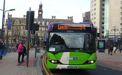 Leeds (Andrew Stopford) Tags: yn56nvb scania cn94ub omnicity harrogatecoachtravel connexionsbuses first leeds ipswichbuses