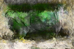 la charca (seguicollar) Tags: art arte artedigital texturas virginiaseguí imagencreativa photomanipulation filterforge charca agua verde ramas plantes