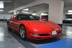 Corvette C5 (Monde-Auto Passion Photos) Tags: voiture vehicule auto automobile cars corvette c5 coupé red rouge sportive rare rareté parking sousterrain rondpointdeschampselysée france paris