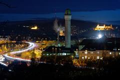 Würzburg (mattrkeyworth) Tags: würzburg sonya7riv ilce7r4 castle lighttrails sel135f18gm 135mm