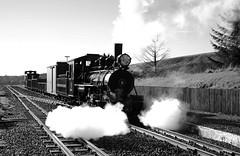 BMR 96557bw (kgvuk) Tags: bmr breconmountainrailway railway train steam locomotive steamlocomotive steamtrain steamengine breconbeacons baldwin 462 pacific station railwaystation torpantau torpantaustation