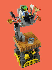 CMF Series 19 Vignette - Video Game Champ (justin_m_winn) Tags: collectible cmf collectable minifigure series 19 video game champ vignette lego