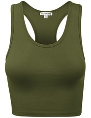 HATOPANTS Women's Cotton Racerback Basic Crop Tank Tops (shop8447) Tags: basic cotton crop hatopants racerback tank tops womens