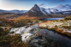 Tryfan (Rob Pitt) Tags: tryfan ogwen valley waterfall cascade snow snowdonia morning sunrise afon lloer north wales cymru winter