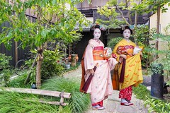 FX Traditional house and Maiko Kyoto (geolis06) Tags: geolis06 asia asie japan japon fx montage 日本 2017 kyoto olympus penfolympusbouddhistebouddhismejardingardengeisha kimonomaikophoto geisha maiko street rue olympusm1240mmf28 photoshop
