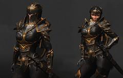 WIP TSC-Battle Paladin Female COMMING SOON (Topa Adamski) Tags: paladin secondlife substancepainter zbrush armor warrior sl knight