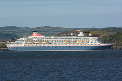 Balmoral -- South Queensferry --16-05-18 (MarkP51) Tags: balmoral southqueensferry firthofforth scotland ship boat vessel sea water sunshine sunny d500 nikon200500f56vr cruiseship nikon d7100