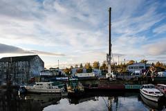Wakefield boat repair yard (Allan Rostron) Tags: boatrepairs wakefield rivercalder