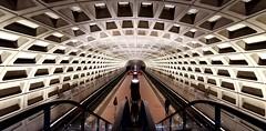 Foggy Bottom metro station, Washington DC (thingsihaveseen) Tags: washingtondc metro station graphic symetry huaweip30pro huawei smartphonephotography