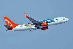 C-FDBD Boeing 737-8Q8 at CYYZ (yyzgvi) Tags: cfdbd boeing 7378q8 sunwing airlines cyyz yyz toronto pearson mississauga ontario princess hotels resorts