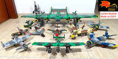 Luft46 Plane Collection 2019 (Eínon) Tags: luftwaffe lego luft46 bomber fighter germany second world war