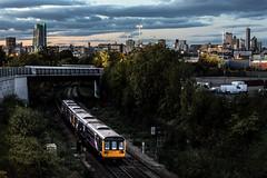 City Bound (Andrew Shenton) Tags: 142012 pacer leeds hunslet city light night railway class142 train