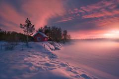 Smokin' Cabin II (Ole Henrik Skjelstad) Tags: norway snow cabin winter cold landscape