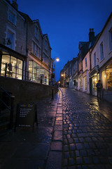 Frome with a view (Roger.C) Tags: somerset westcountry southwest beautiful cobbled street old historic wet shiny shops retail road hill bluehour thebluehour nikon d610 tamron 2470 dark evening dusk nightshot handheld highiso pretty