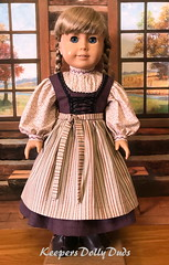 """Plumb Dirndl and Apron made to fit 18"""" American Girl Doll (Keepersdollyduds) Tags: dirndl kirsten americangirldoll keepersdollyduds apron"""
