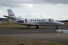 N535CE (wiltshirespotter) Tags: bournemouth hurn cessna 550 citation