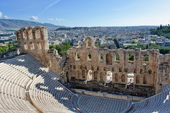 Odeon of Herodes Atticus (kylewagaman) Tags: acropolisofathens acropolis athens greece herodeion herodion greek ruins architecture building theater city cityscape europe ancient ωδείοηρώδουτουαττικού ηρώδειο αθήνα athína ελλάσ
