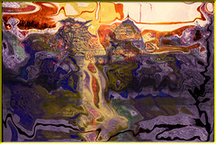El estante (seguicollar) Tags: art arte artedigital texturas imagencreativa photomanipulation filterforge estanque retiro palaciocristal surtidos gatos alambre enfrentados