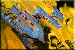 Azulinas (seguicollar) Tags: art artedigital texturas virginiaseguí imagencreativa photomanipulation filterforge flores azul amarillo abstracción abstracto