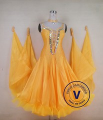 Yellow Ballroom Competition Dress Modern Waltz Tango Smooth Standard Dance (Venus Dancewear) Tags: ballroomdress ballroomdancedress latindress dancewear ballroom competition dress venus dresses dance
