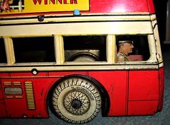 Betal Toys London transport Q type bus close up. (Ledlon89) Tags: betal toy toys bus buses qtypebus london trnasport lptb londontransport aec toybus londonbus londonbuses