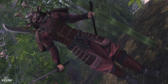 #141 - Miyamoto (Yvain Vayandar) Tags: weloveroleplay wlrp event secondlife sl magic medieval fantasy roleplay samurai bambu warrior japanese armor katana fight pfc fn reveobscura gts villageofahiru