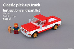 Pick-up truck | Instructions and part list (Andrea Lattanzio) Tags: classic pick up plans instructions lego norton chevrolet chevy ford truck minifig