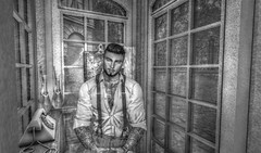 """"""" Strive For Progress, Not Perfection """" (maka_kagesl) Tags: secondlife sl second life game gaming games virtual videogame videogames photography portrait photo picture pose pic posing blackwhite grey bw art avatar avi booth phonebooth"""
