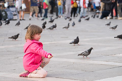 Here, pigeons (Fairy_Nuff (piczology.com)) Tags: venice welshot st marks square piazza san marco pigeons infant toddler girl child patience