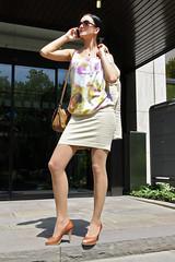 Natascha 07 (The Booted Cat) Tags: black hair model girl milf business woman office miniskirt blouse legs pantyhose strumpfhosen pumps heels highheels sexy peeptoes