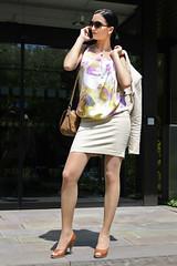 Natascha 06 (The Booted Cat) Tags: black hair model girl milf business woman office miniskirt blouse legs pantyhose strumpfhosen pumps heels highheels sexy peeptoes
