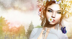 Be running up that hill.. (Sistine Kristan (Sisely) - Toolbox Chicks) Tags: portrait faces secondlife lode mesh sl virtual photography daisies