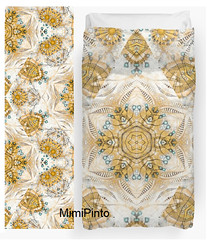 Kaleidoscope by MimiPinto (MimiPintoArt) Tags: find your thing redbubble duvet cover fabric spoonflower textiles home decorating sewing makers creative dress