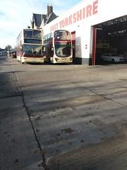 EYMS Bus Garage Hull (fbologna98) Tags: hull yorkshirebus uk ukbuses yorkshire eastyorkshire humberside humbersidebus eyms goahead volvo volvobus b7tl gemini wrightbus eclipse plaxton president doubledecker doubledeckerbus