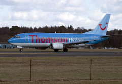 G-THOG (wiltshirespotter) Tags: bournemouth hurn boeing 737 thomson tui