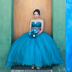 Beautiful in Blue, Oaxaca (Ilhuicamina) Tags: oaxaca retrato portrait quinceanera 15th birthday blue azul