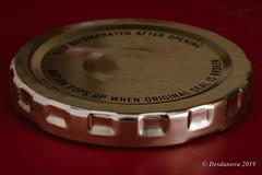 Safety Lid (Desdanova) Tags: gold macro macromondays text red stockton california unitedstatesofamerica lids