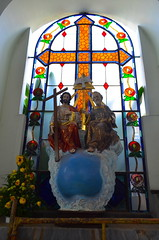 Parish of Our Lady of Guadalupe - Cathedral in Puerto Vallarta (Neal D) Tags: mexico puertorico church cathedral parishofourladyofguadalupe catholic stainedglass window