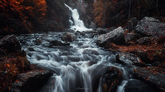Waterfall in autumn - Cascade en automne (www.szphotographie.com) Tags: fall autumn trees water river stream rocks leaves nature landscape scenic ambiance inspiration art fineart szphotographie followme manche france mortain grande cascade riviere arbres roches paysage nikon