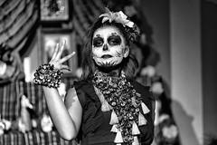 Dia de los muertos (drugodragodiego) Tags: castenedolo provinciadibrescia lombardia italy mexico folklore cultura arte portrait girl woman blackandwhite blackwhite bw biancoenero ritratto pentax pentaxk1 k1 pentaxdfamacro100mm pentax100mmmacro