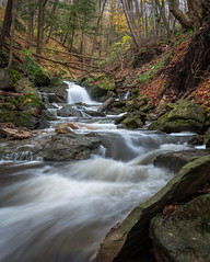 The Journey (patrickviau) Tags: waterfall waterfalls cascades water hamilton toronto nature hike outdoors canada longexposure trees rocks orange fall autumn landscape